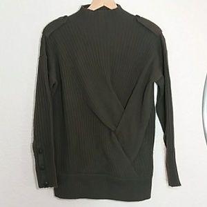 Rag & bone Army green turtleneck wool sweater